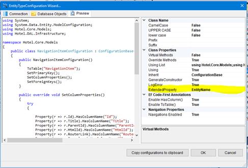Entity Model Generator for Visual Studio 2017 - Visual Studio